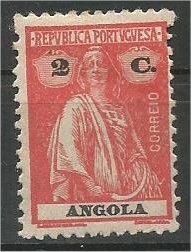 ANGOLA, 1914, MH 2c Ceres Scott 123