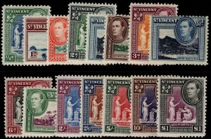 ST. VINCENT GVI SG149-159, complete set, M MINT. Cat £60.