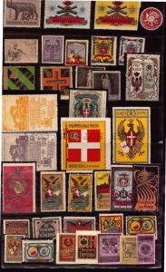 ITALY WWI Military 37 MLH CINDERELLA POSTER STAMP EAGLE CANNON COAT OF ARMS FLAG