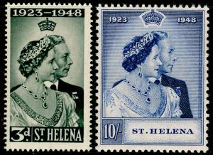 ST. HELENA SG143-144, COMPLETE SET, NH MINT. Cat £28. RSW.