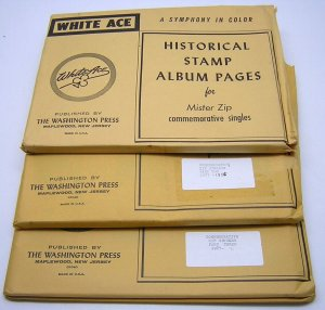 WHITE ACE: Commemorative ZIP Singles 1964-1993 COMPLETE - NEW/NO STAMPS