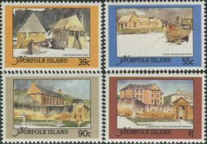 Norfolk Island 1988 SG452-455 Restored Convict Buildings set MNH