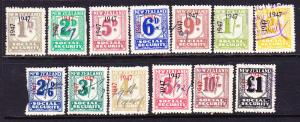 NEW ZEALAND 1947 SOCIAL SECURITY  PART SET 13  FU