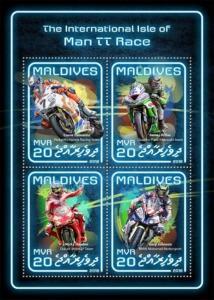 Maldives - 2018 Intl Isle of Man TT Race - 4 Stamp Sheet - MLD18509a