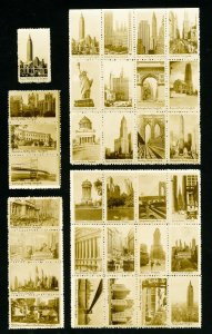 US Stamps Lot of 32 Early Photo Issues of NYC