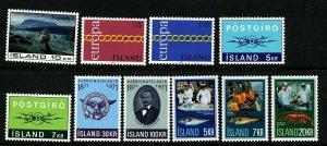 Iceland 1971 Cpl year set. Very good. MNH