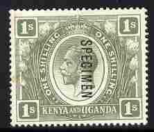 Kenya, Uganda & Tanganyika 1922-27 KG5 1s Script CA overp...