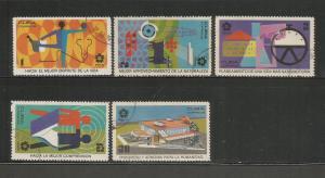 CUBA - 1970 – OSAKA WORLD'S FAIR - #1502-1506 – SET OF 5 – USED/CTO