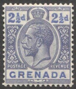GRENADA 1921 Sc 97, MLH 2-1/2d  KGV, VF