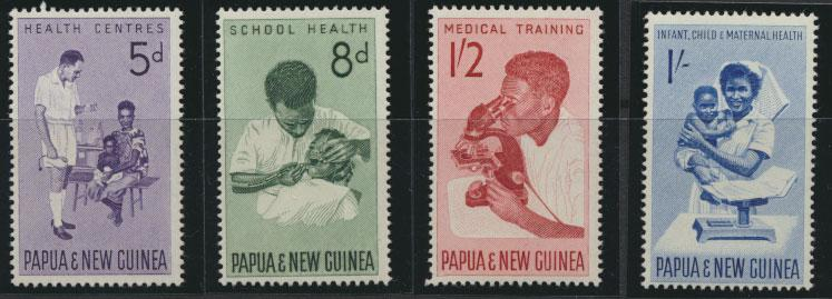 PNG - SG 57 / 60    Scott 184 /7  Mint Never Hinged - SPECIAL