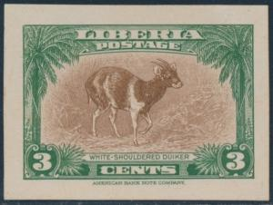 LIBERIA #285P3 PLATE PROOF ON INDIA PAPER BR2257 HSFP
