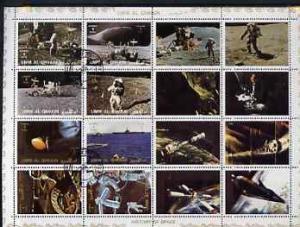 Umm Al Qiwain 1972 History of Space #2 sheetlet containin...