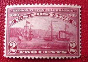 USA 372: 2c Hudson Fulton, M, H, F-VF single