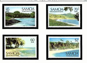 Samoa 697-700 MNH 1987 Landscapes