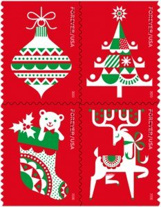 U.S.#5528b (5525-5528) Holiday Delights 55c FE Booklet Block of 4, MNH.