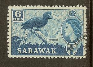 Sarawak, Scott #200, 6c Queen Elizabeth, Used