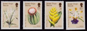 British Virgin Islands 1987 Botanical Gardens Complete (4)  VF/NH