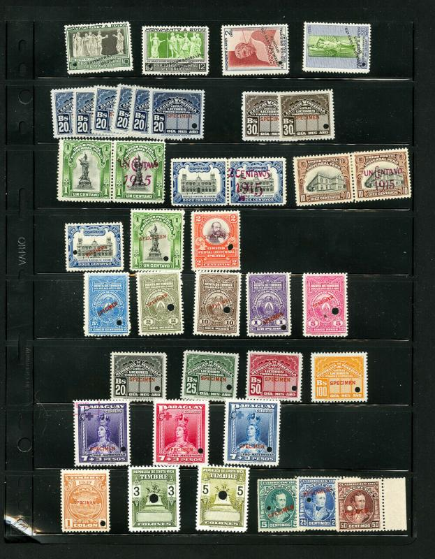 Latin America Rare Mint NH 150 Specimen Stamp Collection