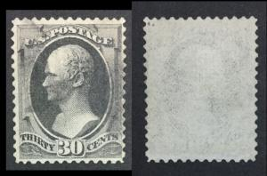 US # 30c BANKNOTE W/ GRILL USED $ LOT #7622