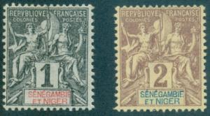 Senegambia & Niger #1, 2  Mint  Scott $4.90   No Gum