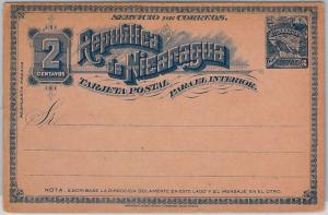 NICARAGUA - - POSTAL STATIONERY: Higgings & Gage # 34 - DOUBLE CARD