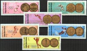 {Y009} Yemen 1968 Winter Olympics Mi. B761/6 7,00 Eur. MNH**