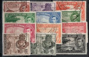 Cayman Islands 1938-1943 SC 100-111 Used Set SVC$ 57.00