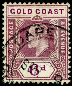 GOLD COAST SG54, 6d dull purple & violet, FINE USED.