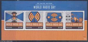 PALAU  2013  UNITED NATIONS RADIO DAY  SHEET MINT NH
