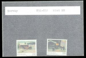 NORWAY Sc#831-832 MINT NEVER HINGED Complete Set