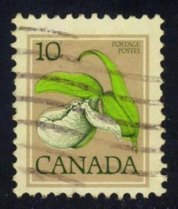 Canada #711 Franklin's Lady's-slipper, used (0.20)
