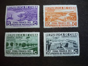 Stamps - Cuba - Scott# C18-C21, Mint Hinged Set of 4 Stamps