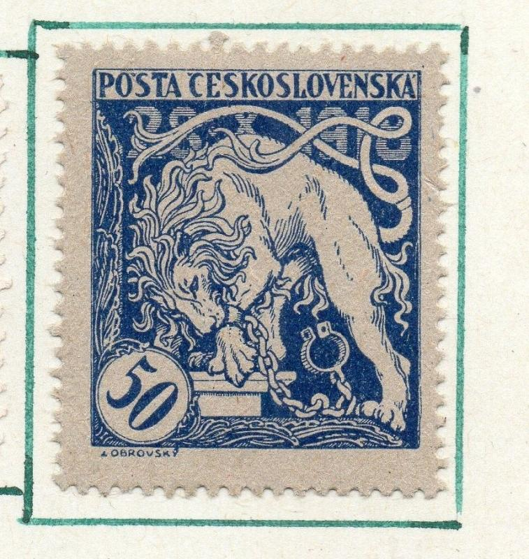 Czechoslovakia 1919 Early Issue Fine Used 50h. 230161