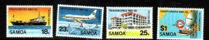 Samoa-Sc#571-4-Unused NH set-Ships-Maps-Independence-1982-