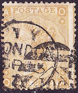GREAT BRITAIN 1867 QV 9d Straw Plate 4 SG110 Used CV£275