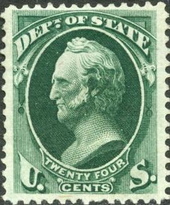 #O65 DEPT. OF STATE; VF+ OG LH CV $525.00 BN6968