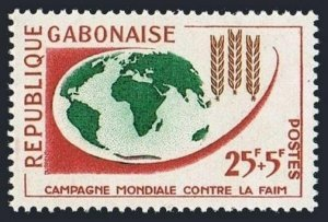 Gabon B5 block/4,MLH/MNH.Michel 181. FAO Freedom from Hunger campaign,1963.