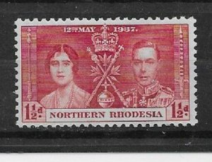 NORTHERN RHODESIA Stamps-Scott # 22 /CD302-1 1/2p-Mint/LH-1937-OG