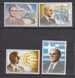 J26165  jlstamps 1999 greece set mnh #1931-4 famous people