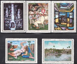 1967 Cuba Stamps Paintings in the National Museum Complete Set MNH