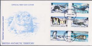 British Antarctic Territory Scott 192-197 Unaddressed.