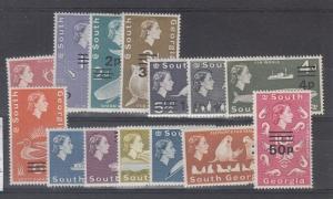 South Georgia Scott 17-30 Mint hinged (Catalog Value $83.65)