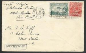AUSTRALIA 1929 first flight cover Adelaide to Perth........................58801