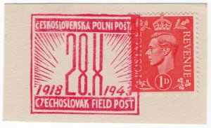 (I.B) Cinderella Collection : Czechoslovak Army Field Post (1943)