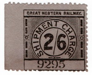 (I.B) Great Western Railway : Shipment Charge 2/6d