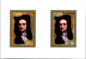RUSSIA LOCAL SHEET FAMOUS PEOPLE SIR ISAAC NEWTON