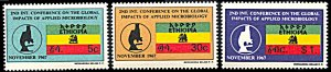 Ethiopia 485-487, MNH, Applied Microbiology Conference