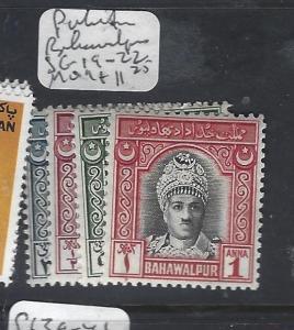 PAKISTAN BAHAWALPUR (P1609B)  SG 19-22   MOG