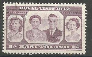 BASUTOLAND, 1947, MH 1sh, British Royal Family, Scott 38
