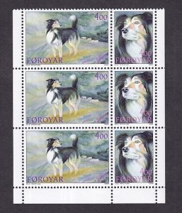 Faroe Islands  #266a-267a  MNH  1994  sheep dogs  booklet pane